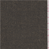 *3 YD PC--Black/Brown Check Rayon Suiting