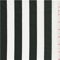 *1 YD PC--Black/White Stripe