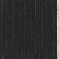 *2 YD PC--Charcoal Stripe Flannel Suiting