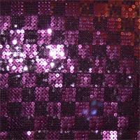 Purple/Fuschia Check Sequin Activewear