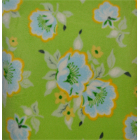 Lime Green Floral Fleece