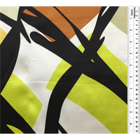White Multi Print Silk Charmeuse