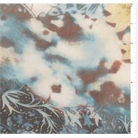 Turquoise Print Silk Chiffon