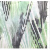 Mint Print Silk Chiffon