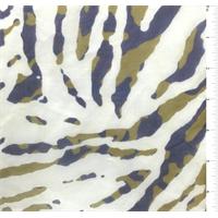 White Animal Silk Chiffon