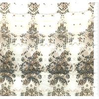 Ecru Snakeskin Print Silk Voile