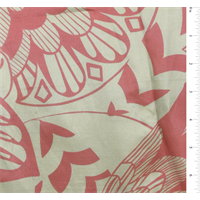 Beige/Pink Floral Print Silk Voile