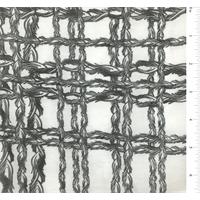 White/Black Plaid Print Silk Voile