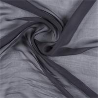 *1 YD PC--Dark Gray Wide Silk Chiffon