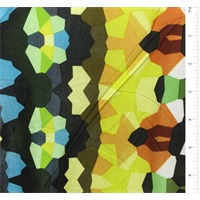 *3 3/4 YD PC--Black Multi Print Silk Jersey Knit