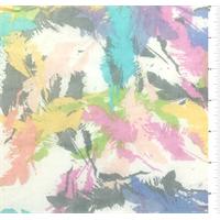 *1 1/2 YD PC--Pastel Print Silk Chiffon