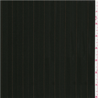 *2 5/8 YD PC--Black/Orange Stripe Suiting