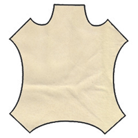 Cream Suede Leather Hide
