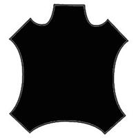 *1 HIDE--Black Leather Hide