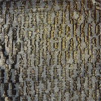 Black/Gold Embroidered Chiffon