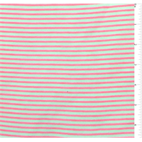 White/Day Glo Pink Pinstripe Chiffon