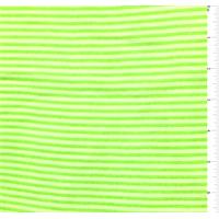Neon Green/White Pinstripe Chiffon