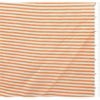 Neon Orange/White Pinstripe Chiffon