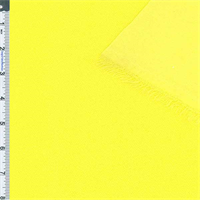 Bright Yellow Pucker Double Knit