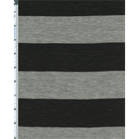 Gray/Black Stripe Jersey Knit