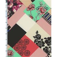 Multicolor Floral Crepe Georgette