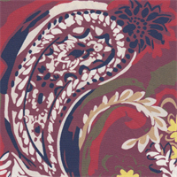 *2 3/4 YD PC--Paisley Crepe