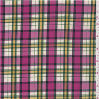 *3/4 YD PC--Pink Plaid Suiting