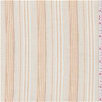 *1 3/8 YD PC--Orange Beige Stripe Shirting