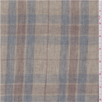 *3 YD PC--Tan Plaid Linen Suiting