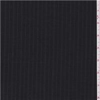 *2 1/2 YD PC--Smoky Black Stripe Suiting