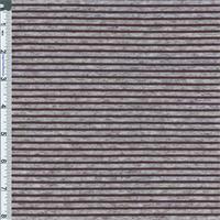 Grey/Black Flecked Stripe Jersey Knit