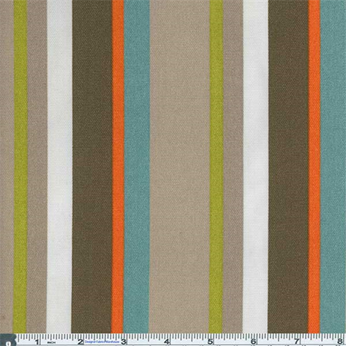 Awning Fabric Wholesale : Brown multi large awning stripe indoor outdoor fabric