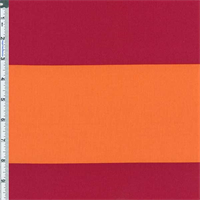Orange/Red Deck Stripe Cotton Twill Decorating Fabric