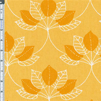 Yellow Mulberry Leaf Print Home Decor Cotton