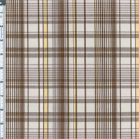 Brown Dunbar Plaid Cotton Blend
