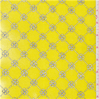 *2 YD PC--Bright Yellow Stretch Velvet