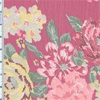 Pink/Yellow Floral Youryu Chiffon