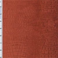 Copper Red Crocodilian Embossed Chenille Home Decorating Fabric