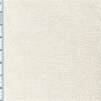 Pearl Ivory Komodo Reptile Faux Velvet  Decorating Fabric