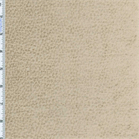 Baked Stone Beige Reptile Faux Velvet Decorating Fabric