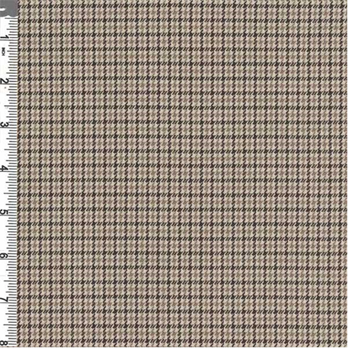 Camel Brown Houndstooth Plaid Polyester 55042 Discount