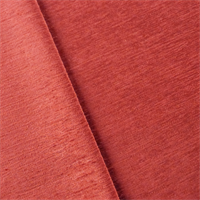 Terracotta Red Empress Chenille Strie Velvet Home Decorating Fabric
