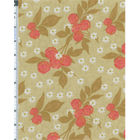 Beige Nel Whatmore Eden Cherry Print Cotton