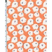 Orange David Walker Get Together Pig Toss Print Cotton Corduroy