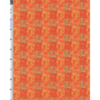 Orange Valori Wells Bridgette Lane Ellie Print Flannel