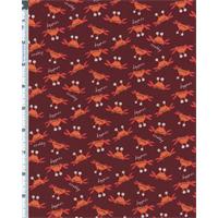 Rusty Maroon David Walker Beach Crabs Print Flannel
