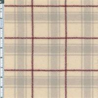*1/2 YD PC--Cream/Brick Blanket Plaid