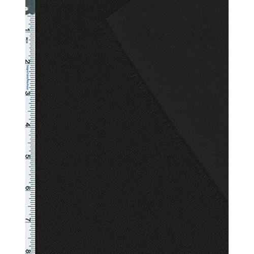 Black Stretch Pebble Crepe Knit 57183 Discount Fabrics
