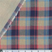 Blue/Pink/Tan Covebay Plaid 2-Sided Linen