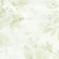 *3 YD PC--Shabby Chic Green Floral Cotton
